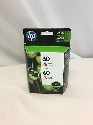 2 Pack Hewlett Packard (CZ072FN) Ink Cartridge color 60 exp.Oct 2020