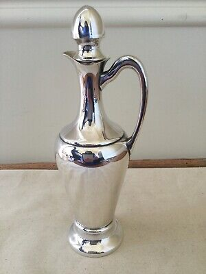 Crescent No 649 Cruet with Stopper Silver Plated 9.75in Tall