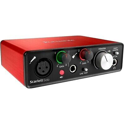 Focusrite Scarlett Solo (2nd Generation) USB Audio Interface