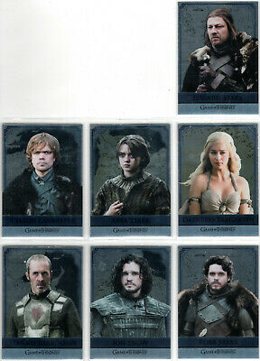 Game Of Thrones Season 5 Reflections Mirror Rare Insert Card Set Rm1-Rm16 (16)