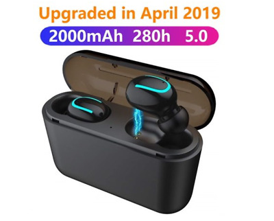 Wireless Headset Earbuds Stereo Bluetooth 5.0 TWS Headphones with Charger Box