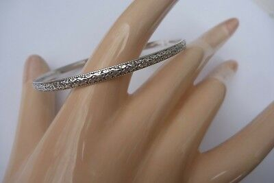 Vintage Art Nouveau Arts & Crafts Sterling Bangle Bracelet