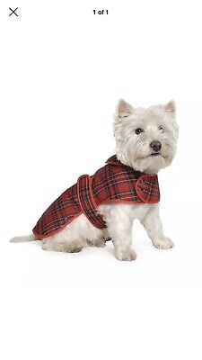 Ancol  Muddy Paws Highland Red Tartan Coat Large New