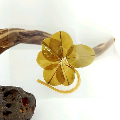 Real Genuine Six 6 Leaf Clover Laminated Lucky Charm Gift Bookmark Shamrock XLGE