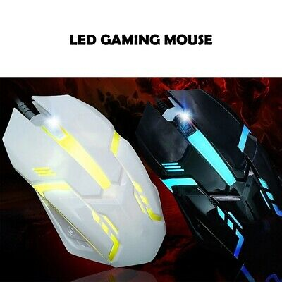 LED Optical Wired Mouse for Computer Accessory Gaming working Cheap Price Light