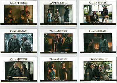 Game Of Thrones Season 5 Relationships Gold Parallel Insert Set Dl21-Dl30 Xx/225