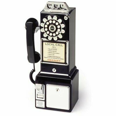 1950's Classic Old Fashioned Phone Booth Style Pay Phone - Black
