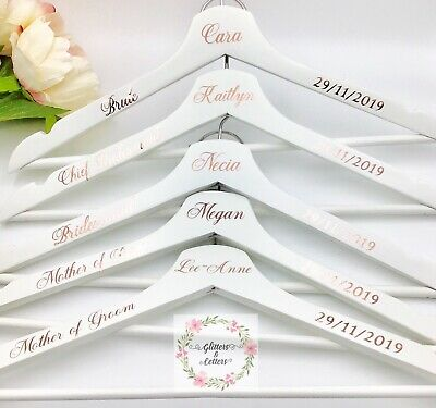 DIY Personalised Wedding Coat Hanger Decals (Name, Date And Title)