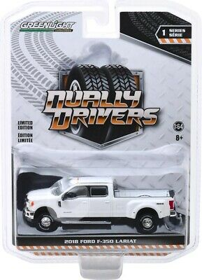 PRE-ORDER Dually Drivers Series 1 - 2018 Ford F-350 King Ranch Dually in white