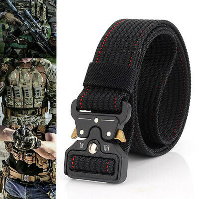UK Mens Heavy Duty Tactical Military Nylon Belt Combat Army Quick Release Buckle