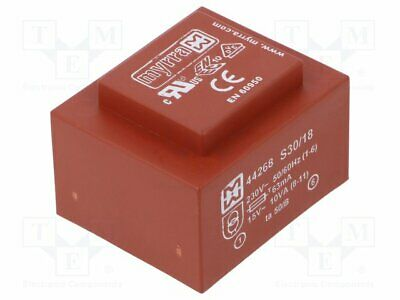 Transformer: encapsulated; 10VA; 230VAC; 15V; 667mA; Mounting: PCB(1 pcs)