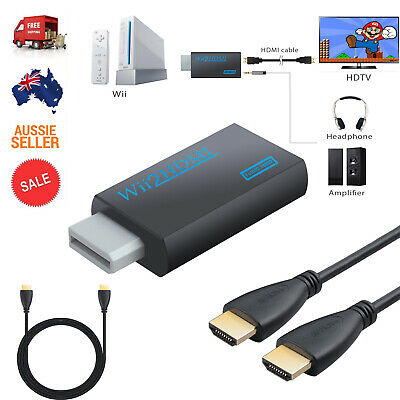 Wii HDMI Adapter 1080p Wii to HDMI Converter 3.5mm Audio Output & 1m HDMI Cable