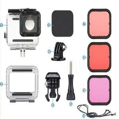 45m Waterproof Housing Case & Dive Filter Kit For GoPro Hero 5 6 7 Black Edition