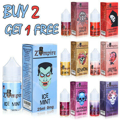 25ml Zompire Refill E-Liquid Cloud Chaser Vape Juice Nicotine 0mg 60/40 VG/PG