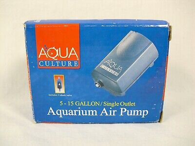 Aqua Culture 5-15 Gallon/ Single Outlet Aquarium Air Pump/ Up to 1200cc Per Min