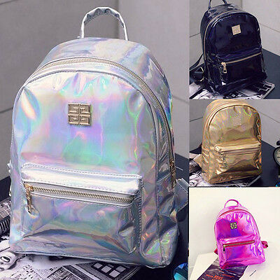 0fff908c02 Hologramme Dos Grands Sacs D'école Voyage PU Multicolore Backpack Étudiants