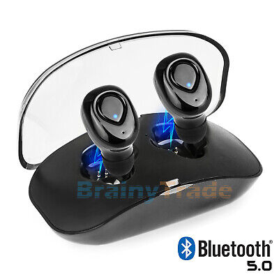 Wireless Earbuds Bluetooth V5.0 Headphones Sweatproof with Mic & Charging Box