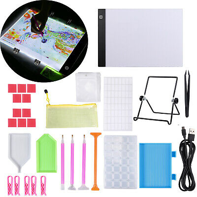 A4 LED Copy Light Pad Tracing Drawing Board & 5D Diamond Embroidery Painting Kit
