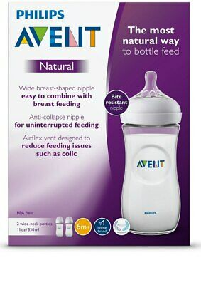 NEW Avent Natural 330ml Feeding Bottle 2pk from Baby Barn Discounts