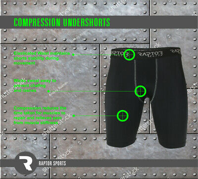 Rugby/Football Mens/Youth Compression Base Layer Armour Under Shorts/Skins/Gear