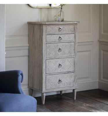 Frank Hudson French Colonial Martinique 5 Drawer Lingerie Chest
