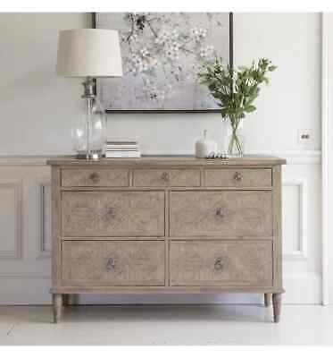 Frank Hudson French Colonial Martinique 7 Drawer Wide Chest Of Drawers