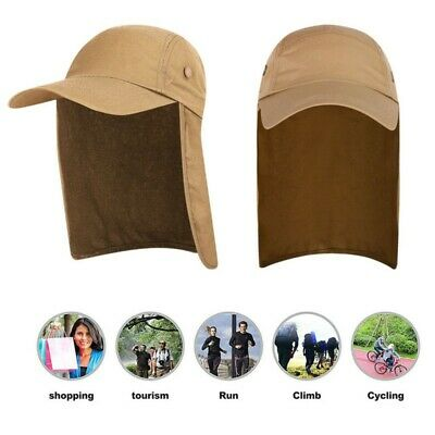 Men Women Fishing Outdoor Cap with Ear Neck Cover Flap Travel Sun Camping Hat
