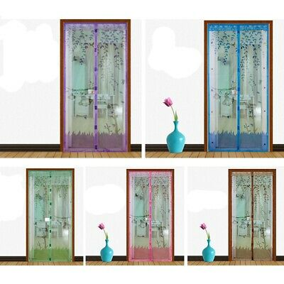 Door Mesh Curtains Magnetic Snap Fly Bug Insect Net Guard Summer Mosquito Screen