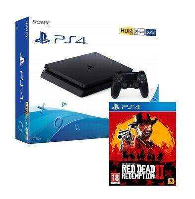 Ps4 500Gb Slim Black F Chassis + Red Dead Redemption 2 Eu - Hdr- Offerta !!!