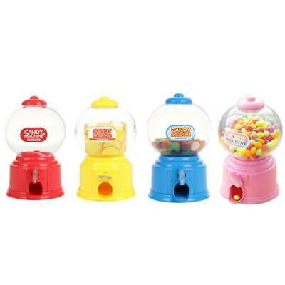 Plastic Candy Dispenser Machine Gumball Gum Ball Snacks Storage Kids Child Gifts
