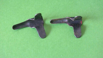 (3) 2x Meccano Part 35: Spring Clip (tongue key) ca. 1907/08