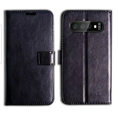 Samsung Galaxy S10 Book Case Leather Wallet Phone Covers Flip UK