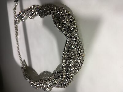 Womens Belt Silver Coloured Sparkly Emery Chain Embelished wholesale x 50pcs