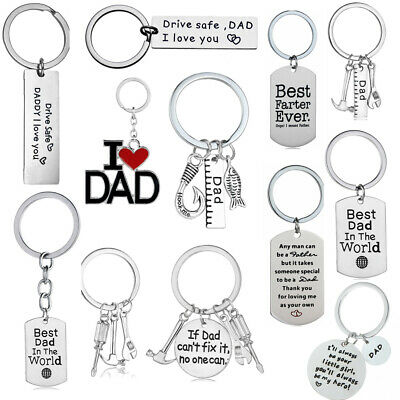 Dad Papa Daddy Fathers Day Key Chain Ring Appreciation Gifts Keychain Keyring