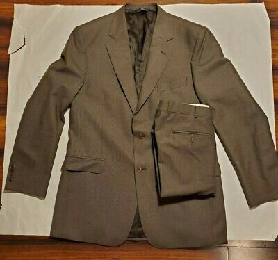 Brooks Brothers Mens Wool Blend Houndstooth 2 Botton Blazer suit sz 42L Stretch
