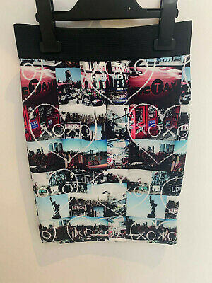 Girls ex River Island Blue XOXO Skirt Age 7-8 & 11-12 Years Old