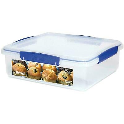 Sistema KLIP IT 3.5 L Bakery Biscuit Bun Muffin Food Storage Container Box Clear