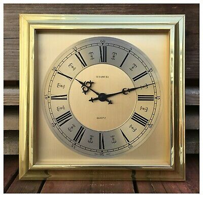 H.SAMUEL Gold plated Wall Quartz Clock. Made in Germany.