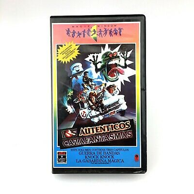 LOS AUTENTICOS CAZAFANTASMAS The Real Ghost Busters ANIMATION Damaged tape * VHS