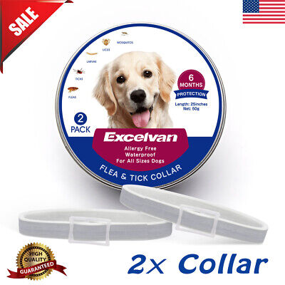 """2x 25"""" Flea And Tick Collar Anti Insect For Small Pet Dog Cat 6-Month Protection"""