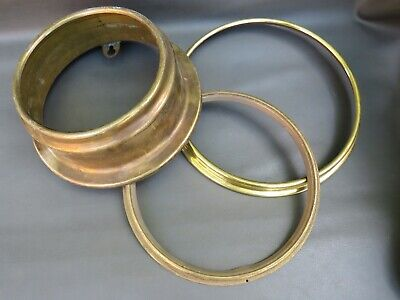 Job lot of 3 vintage brass clock bezels spares and parts