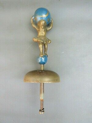 Vintage clock bell with Atlas finial figure - spares parts