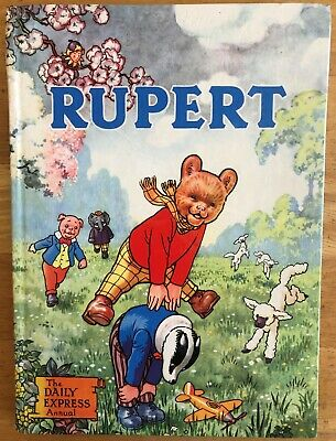 RUPERT ANNUAL 1958 Inscribed NOT Price clipped PAINTING Untouched VG Plus