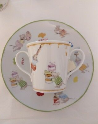 "Bernardaud completo pappa 2pz ""Souricettes"""