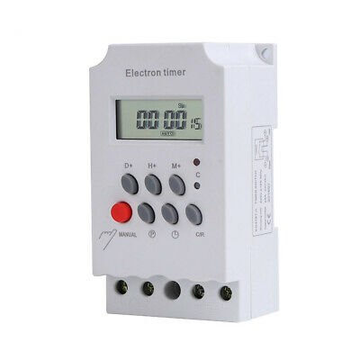 Energetic Kg316t-ii 220v 25a Din Rail Lcd Digital Programmable Electronic Timer Switch Digital Timer Controller Tools