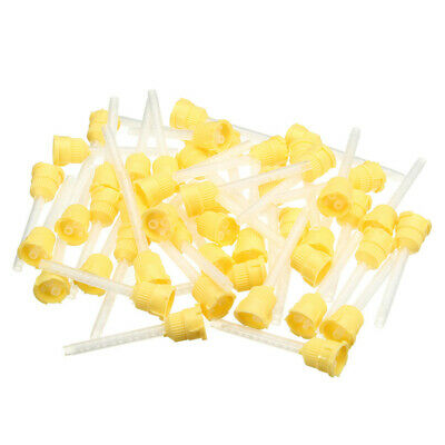 50pcs Disposable Dental Tools Impression Mixing Tip 3.5mm Silicone Rubber 1:1 R