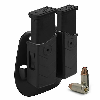Magazine Holsters 9mm Universal Mag Pouch Dual Stack Holder Fit Glock Sig CZ SW