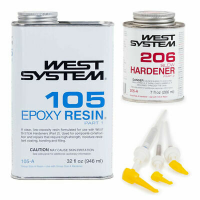 West System Epoxy Kit 105A Resin 206A Hardener 300 Pump Set