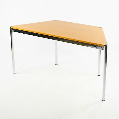 USM Haller Beech Wood Trapezoid Table Modular 1500x740 Knoll Office Sets Avail