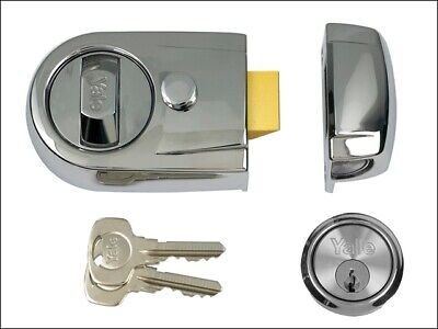 Yale Locks YALY3CHCH60 Y3 Verrou Moderne 60mm Appuie-Tête Poli Finition Chrome